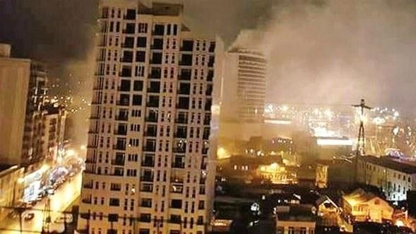 Batum'da otel yandı, Türkler de hayatını kaybetti